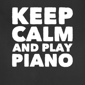 Keep calm and play piano - Adjustable Apron