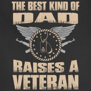The Best Kind Of Dad Raises Veteran - Adjustable Apron