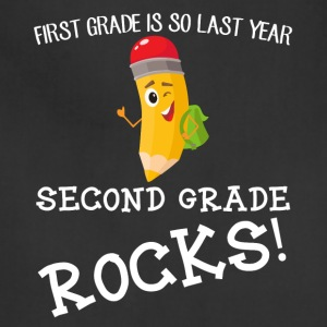 first grade is so last year, second grade Rocks! - Adjustable Apron