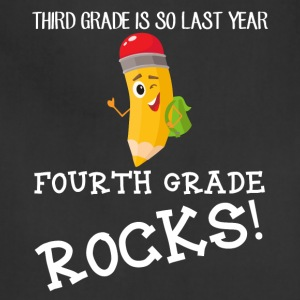 third grade is so last year, fourth grade Rocks! - Adjustable Apron