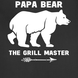 Papa Bear The Grill Master T Shirt - Adjustable Apron