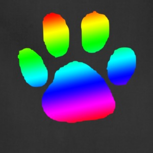 dog cat paw print rainbow - Adjustable Apron
