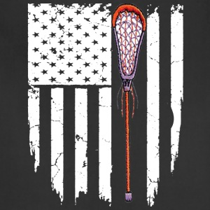 Lacrosse American Flag T-shirt - Adjustable Apron