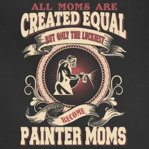 The Luckiest Become Painter Moms - Adjustable Apron