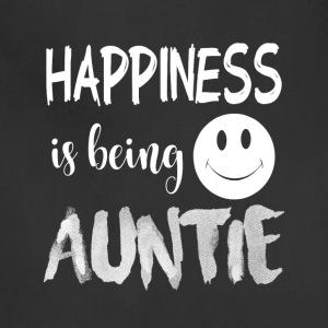 Happiness Is Being Auntie T Shirt - Adjustable Apron
