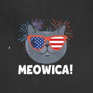 Cat 4th of July Meowica T-Shirt - Adjustable Apron