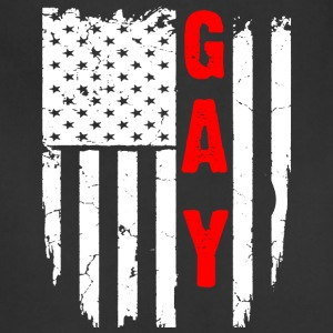 lGBT GAY FLAG T-Shirt - Adjustable Apron