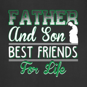 Father And Son Best Friends For Life T Shirt - Adjustable Apron