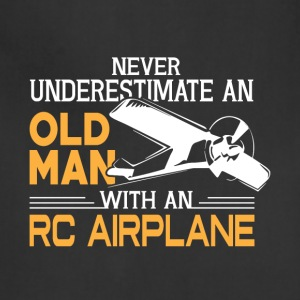 Old Man With An RC Airplane T Shirt - Adjustable Apron