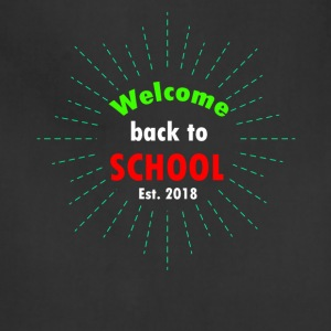 welcome back to school t-shirt - Adjustable Apron