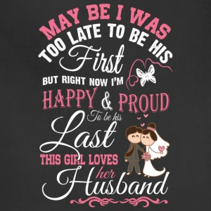 This Girl Loves Her Husband T Shirt - Adjustable Apron