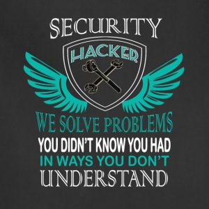 Security Hacker T Shirt - Adjustable Apron