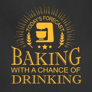 Today's Forecast Baking T Shirt - Adjustable Apron