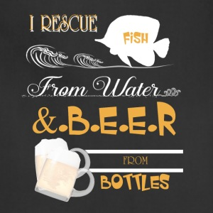 Fish From Water And Beer From Bottles T Shirt - Adjustable Apron