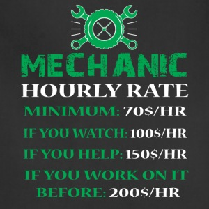 Mechanic Hourly Rate T Shirt - Adjustable Apron