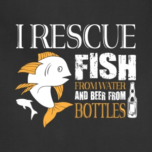 I Rescue Fish From Water T Shirt - Adjustable Apron