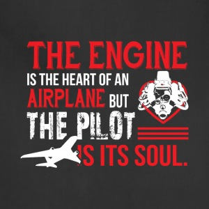 The Engine Is The Heart Of An Airplane T Shirt - Adjustable Apron