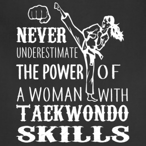 A Woman With Taekwondo Skills T Shirt - Adjustable Apron