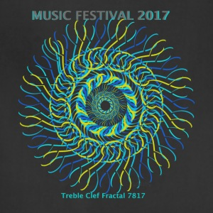 Music Festival 2017 treble clef fractal 7817 - Adjustable Apron