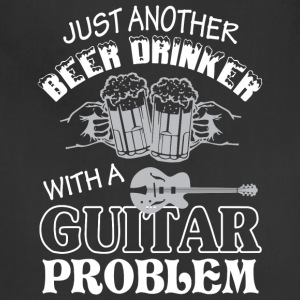Beer Drinker With A Guitar T Shirt - Adjustable Apron