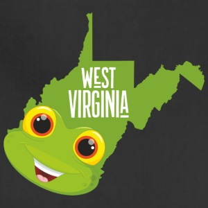 Funny map of West Virginia - Adjustable Apron