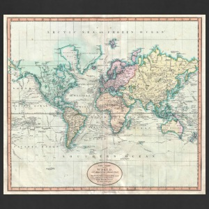 1801 Map of the world - Adjustable Apron
