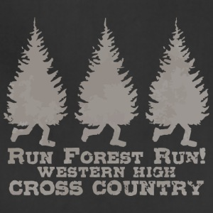 Run Forest Run Western High Cross Country - Adjustable Apron