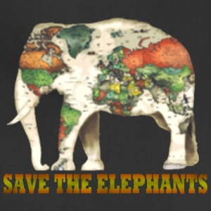 Save The Elephants World Map - Adjustable Apron