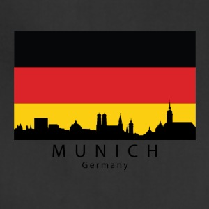 Munich Germany Skyline German Flag - Adjustable Apron