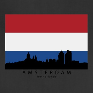 Amsterdam Netherlands Skyline Dutch Flag - Adjustable Apron