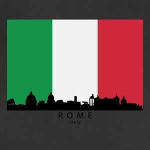 Rome Italy Skyline Italian Flag - Adjustable Apron