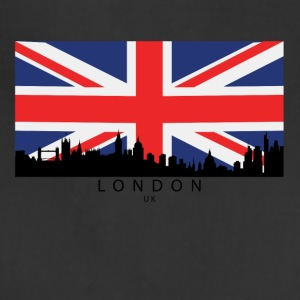 London England UK Skyline British Flag - Adjustable Apron