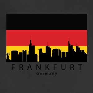 Frankfurt Germany Skyline German Flag - Adjustable Apron
