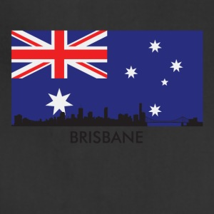 Brisbane Australia Skyline Australian Flag - Adjustable Apron