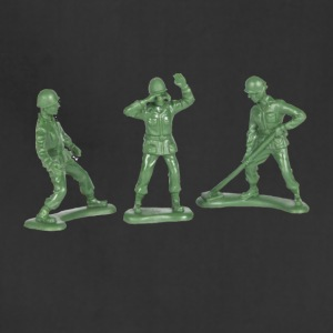 3 GREEN ARMY MEN - Adjustable Apron