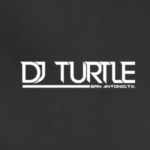 dj turtle white logo - Adjustable Apron