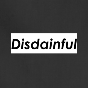Distainful black letters - Adjustable Apron