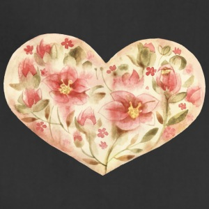Cool flowers heart vector watecolor picture image - Adjustable Apron
