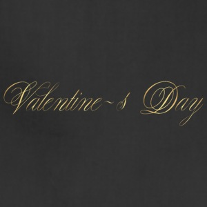 happy-valentines day-gold-inscription-cool - Adjustable Apron