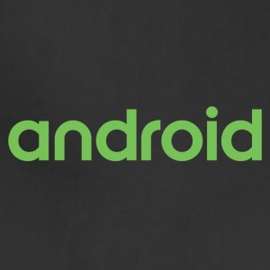 Android logo wordmark logotype - Adjustable Apron
