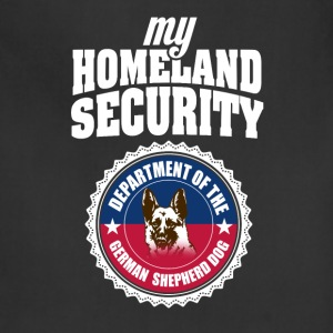 Cute and Cool German Shepherd - Homeland Security - Adjustable Apron