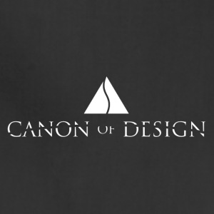 Canon of Design Logo White - Adjustable Apron