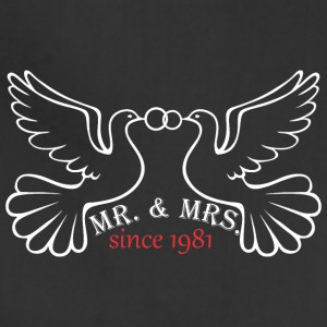 Mr And Mrs Since 1981 Married Marriage EngagementM - Adjustable Apron