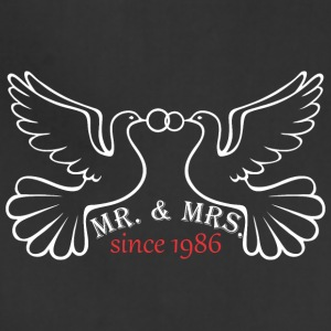 Mr And Mrs Since 1986 Married Marriage Engagement - Adjustable Apron
