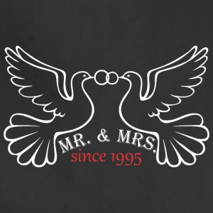 Mr And Mrs Since 1995 Married Marriage Engagement - Adjustable Apron