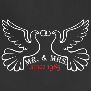 Mr And Mrs Since 1985 Married Marriage Engagement - Adjustable Apron