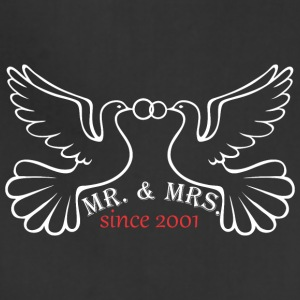 Mr And Mrs Since 2001 Married Marriage Engagement - Adjustable Apron