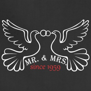 Mr And Mrs Since 1959 Married Marriage Engagement - Adjustable Apron