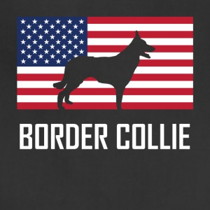 Border Collie American Flag - Adjustable Apron