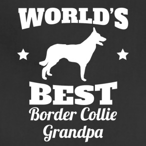 Worlds Best Border Collie Grandpa - Adjustable Apron